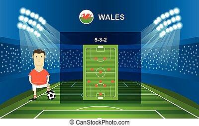Soccer team arrangement Football infographic template