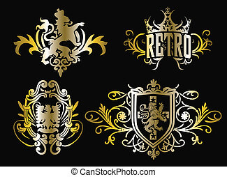 crest fancy shield design