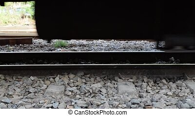 Suspension of Thai train - Zoom train suspension of a Public...