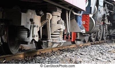Steam train at State Railway of Tha - Bangkok, Thailand -...
