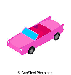 Car convertible icon, isometric 3d style - Car convertible...