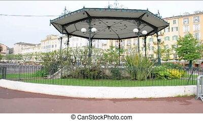 park gazebo Bastia Corsica - gazebo in park Place St Nicolas...