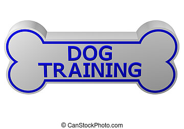 Concept: dog training. 3D rendering.