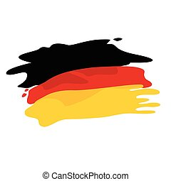 Flag of Germany - Vector flag of Germany. Flag of Germany in...