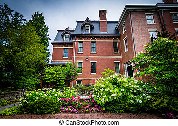 Gardens outside the Brown University Alumni Association...
