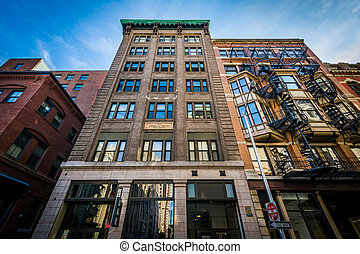 Buildings in downtown Providence, Rhode Island.