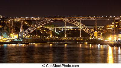 Bridge of don Luis I in Porto, Portugal