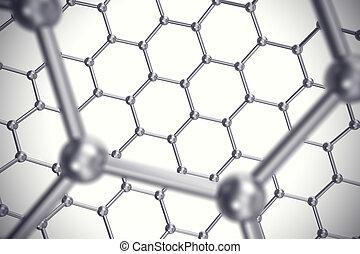 blad, graphene, illustratie, Nucleair, nanostructure, schub,...