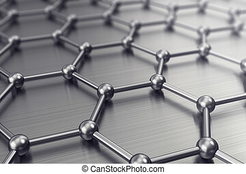 Molecules connected, crystallized in the hexagonal system....