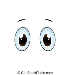 Vector Cartoon Eyes - Vector Illustration of Cartoon Eyes on...
