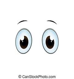 Vector Cartoon Eyes