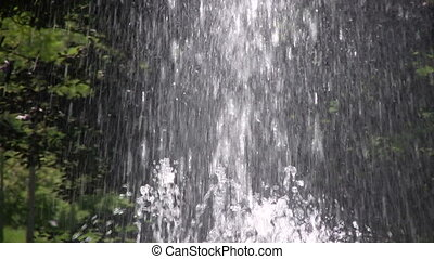 Water fountain - Moving picture of Fountain Water Streams in...