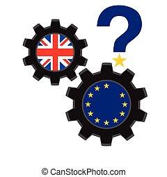 Brexit concept - Brexit vector illustration.European Union...