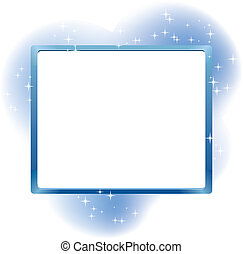 Frame for text on abstract fairy  background, vector illustration