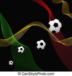 Football background with different lines and colors
