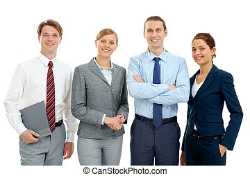 Partners - Photo of several successful associates looking at...