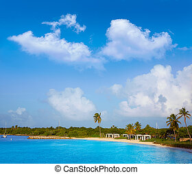 Florida Keys beach Bahia Honda Park US - Florida Keys beach...