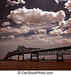 Louisiana Horace Wilkinson Bridge Mississippi river -...