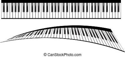 Piano keyboards set - Piano keyboards vector illustrations...