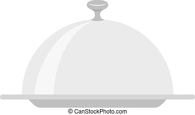 Restaurant cloche isolated on white background vector...
