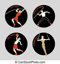 Vector illustration of Athletes.