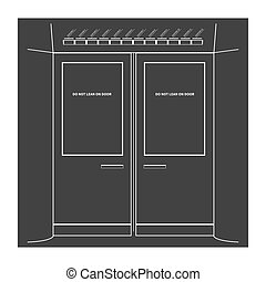 Subway doors Vector illustration
