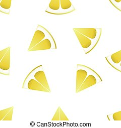 The pattern of lemons on a white background.