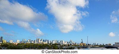 Miami downtown skyline panoramic view Florida