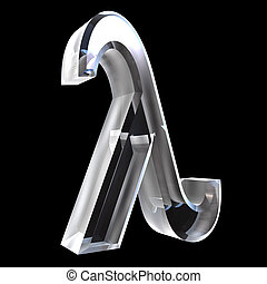 Lambda symbol in glass (3d) - Lambda symbol in glass (3d...