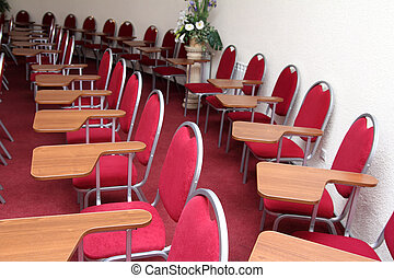 conference hall - empty chair in row - conference hall