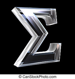 Sigma symbol in glass (3d) - Sigma symbol in glass (3d made)...