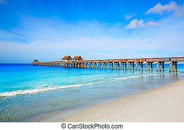 Naples Pier and beach in florida USA
