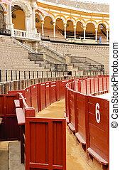 Séville, arène, -, portail, nombre, 6