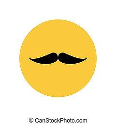 Mustache silhouette icon