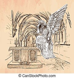 Angel - An hand drawn vector - An hand drawn vector - ANGEL...