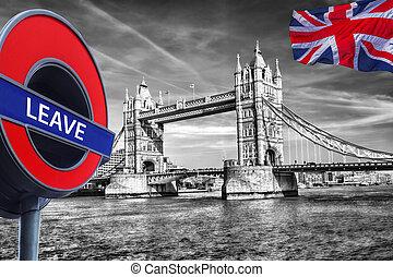 Britain votes to LEAVE European Union,Tower Bridge in...