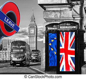 Britain votes to LEAVE European Union, phone booths with...