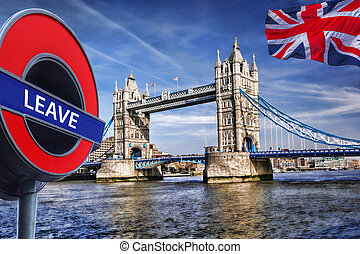Britain votes to LEAVE European Union,Tower Bridge in London, England, United Kingdom