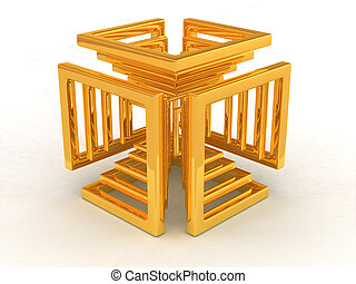 Abstract image. Infinity. 3d