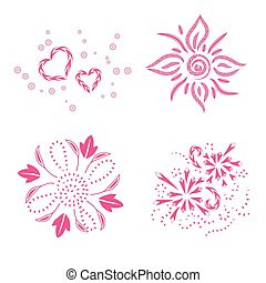 decor ornaments, art design, vector