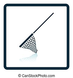 Icon of Fishing net Shadow reflection design Vector...