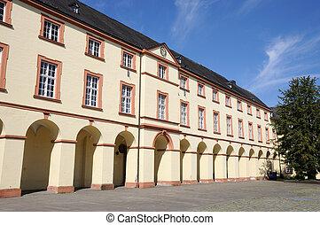 Unteres, SCHLOSS, Siegen, Północ, Rhine-Westphalia,...