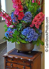 colorido, floral, arreglo,
