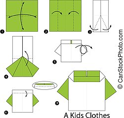 origami A Kids Clothes.