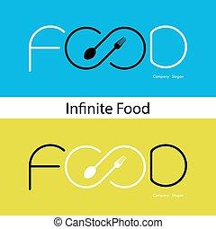nourriture, et, infinité, icon.Fork, signe, et,...