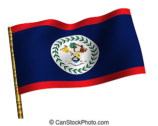 Belize - National Flag. Belize