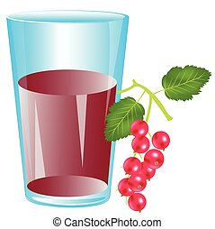Juice from berry wood sorrel - Glass with drink from berry...
