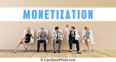 Business Monetization Being Discussed in a Group Meeting