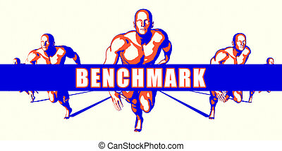 Benchmark as a Competition Concept Illustration Art