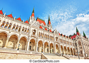 Hungarian Parliament close-up Budapest One of the most...